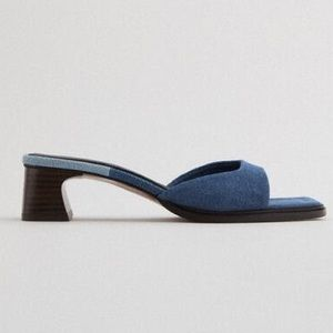 ZARA heeled denim sandals